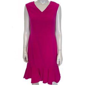 {nine west} magenta colored dress